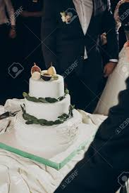 Stylish Wedding Cake Rustic Cake With Greenery Pear And Figs
