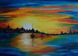 sunrise 24 x 18 horizontal oil painting on canvas board