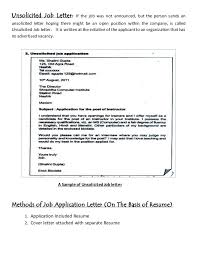 Unsolicited Letter Functional Concept Nor Job Resume Writing 4 638