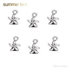2019 whole silver plated star starfish bracelet necklace pendants findings 8 5mm jewelry findings new jewelry making diy from klfashion