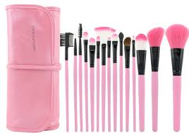 hot pink makeup brushes. hot selling!!high quality 15 pcs professioal makeup brush set with leather case pink brushes
