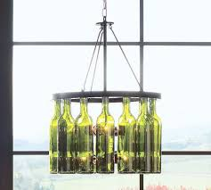 green wine bottle chandelier design idea interior attractive hanging ideas wood glass bubble bird meval miniature ceiling light sleeves plastic lift