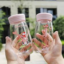 <b>RUIDA Creativity Cartoon Pink</b> Panther Water Bottles Non slip ...