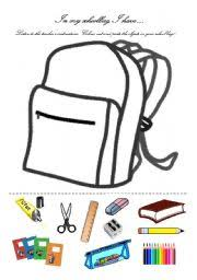worksheet in my school bag i have english worksheet in my school bag i have