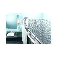 double tension shower curtain rod curved adjule double shower satin nickel