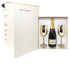 moët chandon imperial brut twin gold gl goblets set