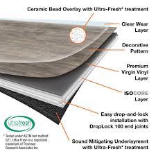 vertex services i966106 8 7 in x 47 6 in smoked oak silver vinyl flooring 20 06 sq ft case vip