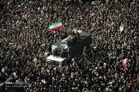 نتیجه تصویری برای مراسم تشییع امام خمینی