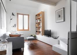 Interior Design For Apartment Living Room Fascinating R Piuerre Converts Dental Studio Into Compact Apartment