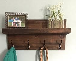 Entryway shelf , shelf with hooks, coat rack, key holder, farmhouse decor,