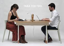 Eating Table A Working Desk For Two A Dining Table For Six Design Milk