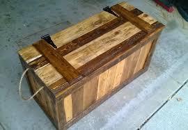 false bottom trunk from reclaimed wood pallets buy wooden pallet furniture