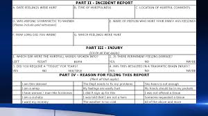 hurt feelings report form school accidentally emails sarcastic hurt feelings report to
