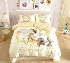 princess sheets twin beauty and the beast belle princess bedding sets for girls home decor cotton