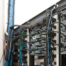 open frame network server racks racksolutions see an example of vertical cable organizers