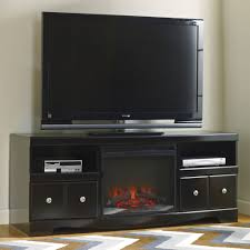 Large Black Tv Stand Shay Large Tv Stand With Fireplace Jennifer Furniture