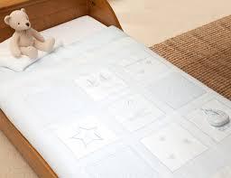 vintage blue luxury cot bed quilt