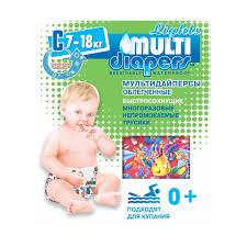 <b>Трусики</b> для плавания <b>Multi</b>-<b>Diapers</b> lights р.С (7-18кг)