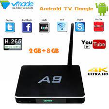 A9 smart TV BOX Android 6.0 OS WiFi Android TV Box 2GB + 8GB Amlogic S905X  Quad Core Free Apps Set top box HDMI 4K Media Player|Set-top Boxes