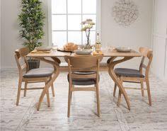 5 piece dining set wood table 4 chair kitchen mid century modern retro furniture