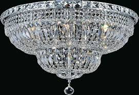 lighting light bowl flush mount with chrome finish touareg 35 wide 16 crystal chandelier 5 appealing