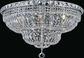 lighting light bowl flush mount with chrome finish touareg 35 wide 16 crystal chandelier 5 appealing