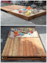 diy sandbox with bench cover diy sandbox projects
