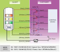 connection diagram qlight in case of connection for npn tr method power flows from each light source signal line to steady com line of polarity through tr