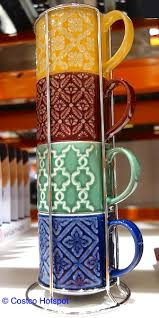 The most common stacking mugs rack material is porcelain & ceramic. Stacking Mug Set By Overandback Costco Hotspot