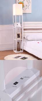 it floor lamp with shelves