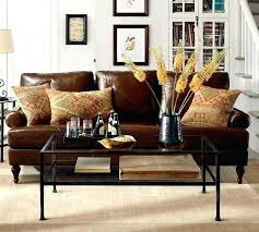 leather accent pillows leather sofa pillows brown leather sofa with throw pillows black black leather couch
