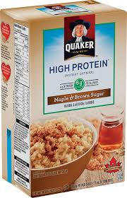 quaker high protein maple brown sugar flavour instant oatmeal