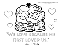 Valentines Bible Coloring Pages Printable Coloring Page For Kids