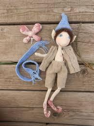 elf doll doll handmade elf doll handmade fabric doll organic doll