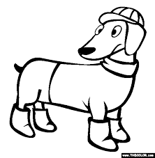 Dachshund Coloring Page Free Dachshund Online Coloring