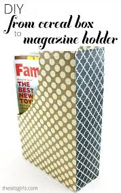 Magazine Holder Uses DIY Home Decor Magazine Holders Out of Cereal Boxes 61