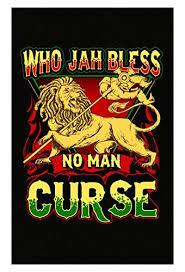 Esparosa Rastafarian Gifts Who Jah Bless No Man Curse Rasta Lion Of Judah Poster