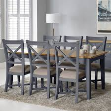 bordeaux painted taupe large extending dining table 6 chairs seats 6 8