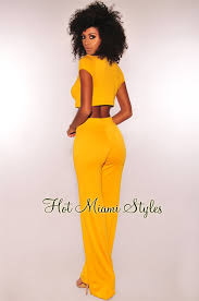 Honey Yellow Palazzo Two Piece Set