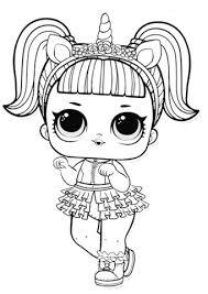 Disegno Di Bambolina Unicorno Da Colorare Disegni Da Colorare E