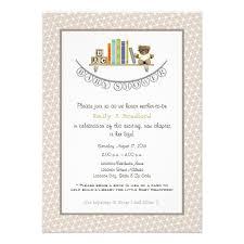 Pretty BookThemed Baby Shower Invitation  Events By ElisaLibrary Themed Baby Shower Invitations