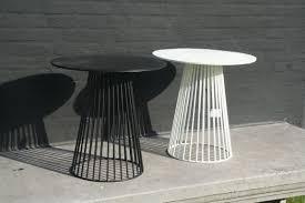 garbo round metal bistro table white