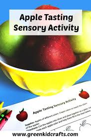 Apple Tasting Activity For Kids With Printable Green Kid