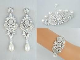 chandelier pearl earrings for wedding crystal bridal earrings bridal jewelry set wedding bracelet intended for incredible