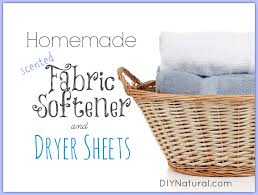 homemade fabric softener homemade dryer sheets