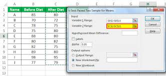 to calculate p value in excel t test