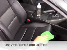 cleaning and conditioning auto leather with eco touch leather care products