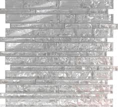 1sf white pearl scent linear glass mosaic tile kitchen backsplash wall shower