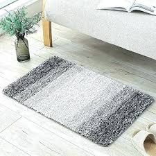 grey bathroom rug by non slip soft fluffy water absorbent gy bath mats rugs machine light