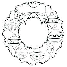 Christmas Wreath Coloring Page Wreath Coloring Pages Advent Page